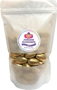 Roses Brand: Jordan Almonds - 2, 14oz Bags - Metallic Gold - Bulk Candy Bag for Party Favors - Fresh, No Gluten, Low Sodium - Great Party Candy for Easter, Weddings and Baby Showers