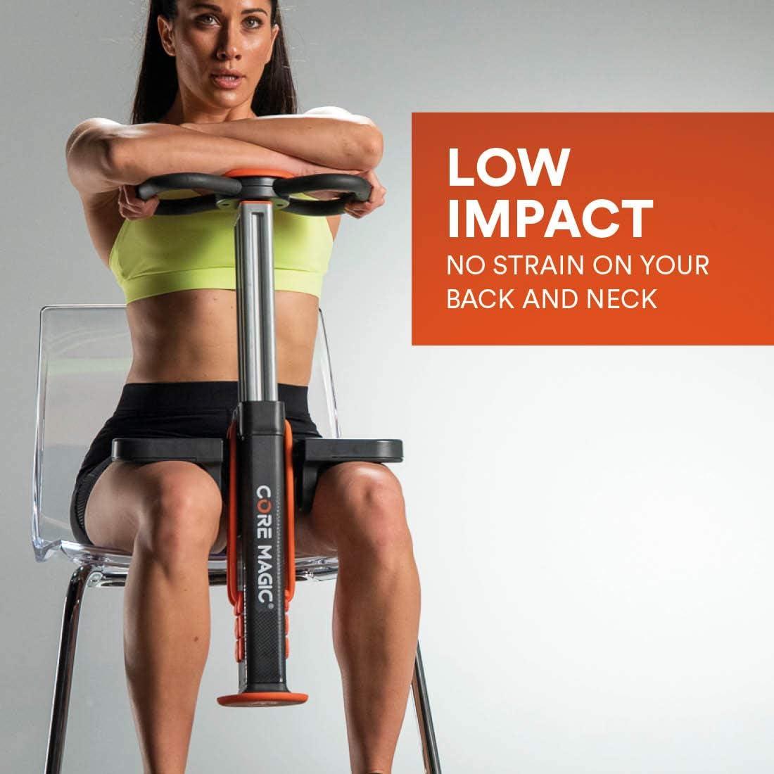 Gris y Naranja New Image Strengthen and Tone Muscles At Home Core Magic Entrenador Bonus Workout Videos