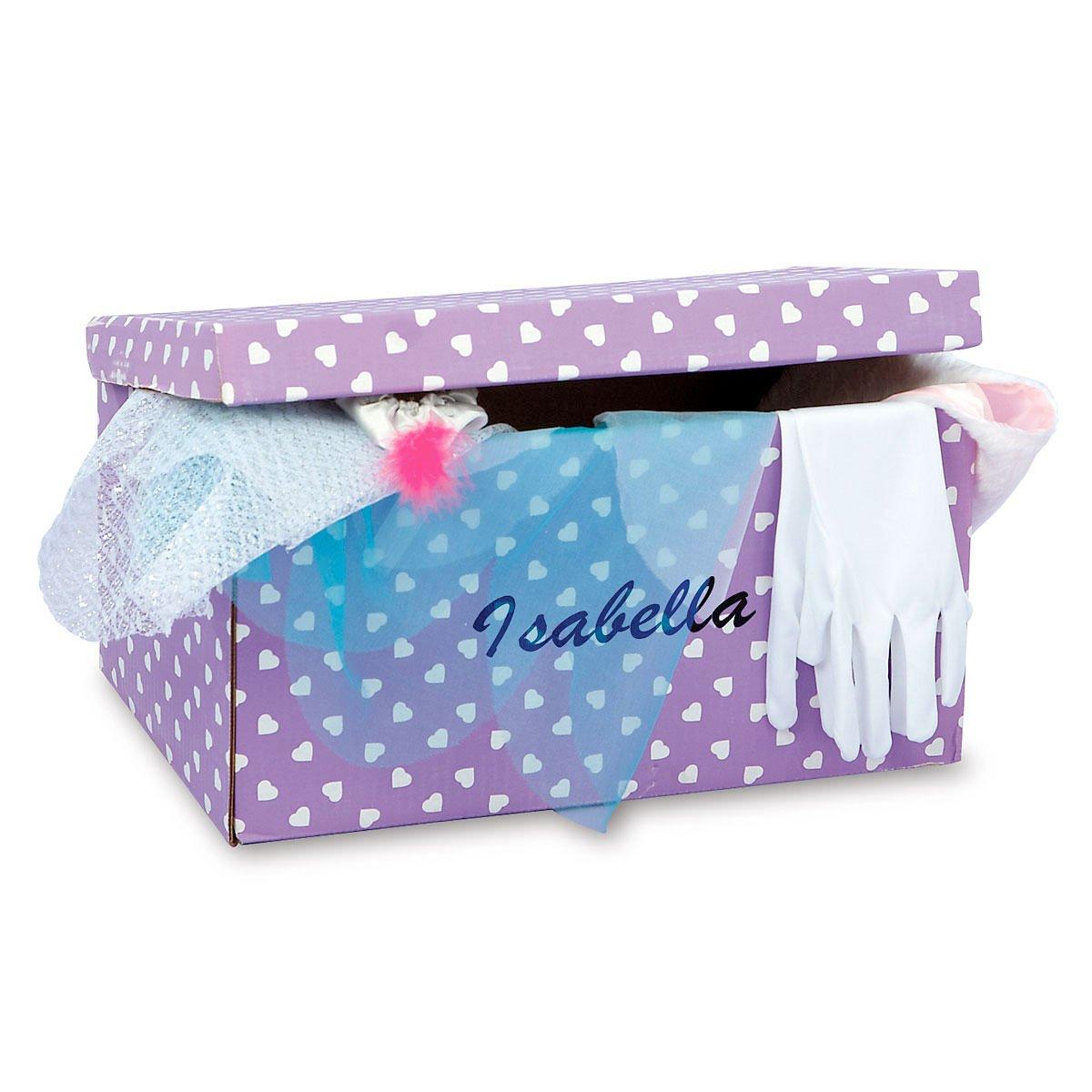 Personalized Kids Dress Up Trunk - 8-1/2 x 10-1/2 x 16'' W cardboard trunk includes 17 piece set