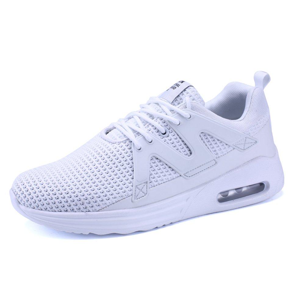 XIANV Herren Sneaker Bequeme Freizeitschuhe Mauml;nner Durable Flache Schuhe Mauml;nner Trainer Mesh Breathable Licht Weicher Mann Ebene  44 EU|Wei?