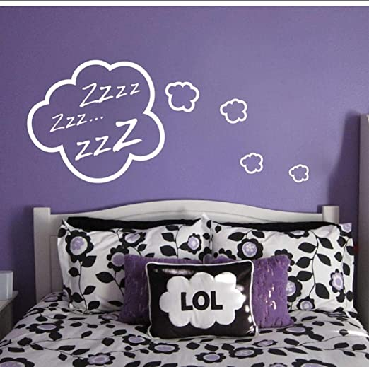 Amazon Com Mrqxdp Snoozing Cloud Bedroom Vinyl Wall Stickers Child Room Bedroom Home Decor Wall Art Mural For Baby Kids Adhesive Wallpaper 56x75cm Murales Wallpaper Pared Dormitory Decoration Kitchen Dining