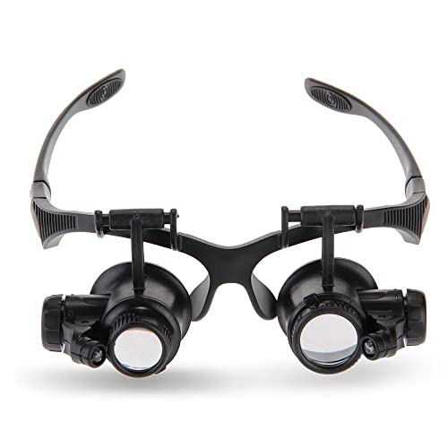 Watchmakers Magnifying Glass 20x Glasses With Led Light