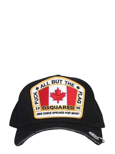 DSQUARED2 Cappello Uomo Bcm010405c000012124 Cotone Nero  Amazon.it   Abbigliamento db474b1336c7