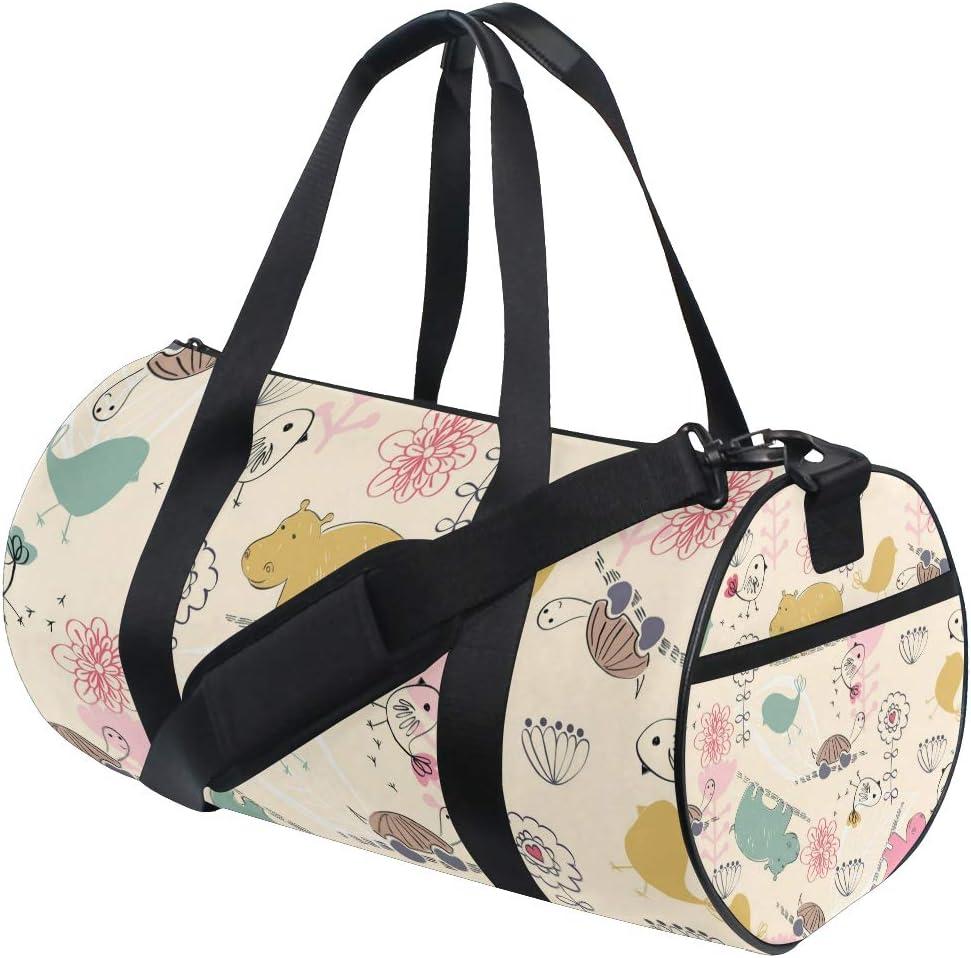 MALPLENA Lovely Animals Drum gym duffel bag women Travel Bag