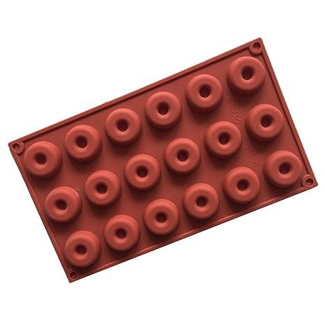 Hemore Molde Redondo de Silicona para Tartas de castaño para Dulces, Chocolate, Molde para
