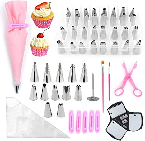 Cake Decorating Kit Set Tool Bag Russian Piping Tip Pastry Icing Bags Nozzle US