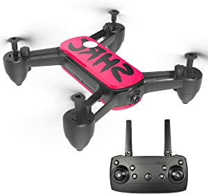 Drone with 4K Camera,HD WiFi Transmission Live Video,2 Modular Batteries 30mins Flying Time,Altitude Hold,Headless Mode,3D Flips,One Key Start/Land,Drone for Beginners Adults and Kids(Red)