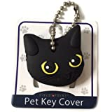 Key Cover / Key Caps / Key Holder / Keycaps - Cute Animal Pet Faces (Black Cat)