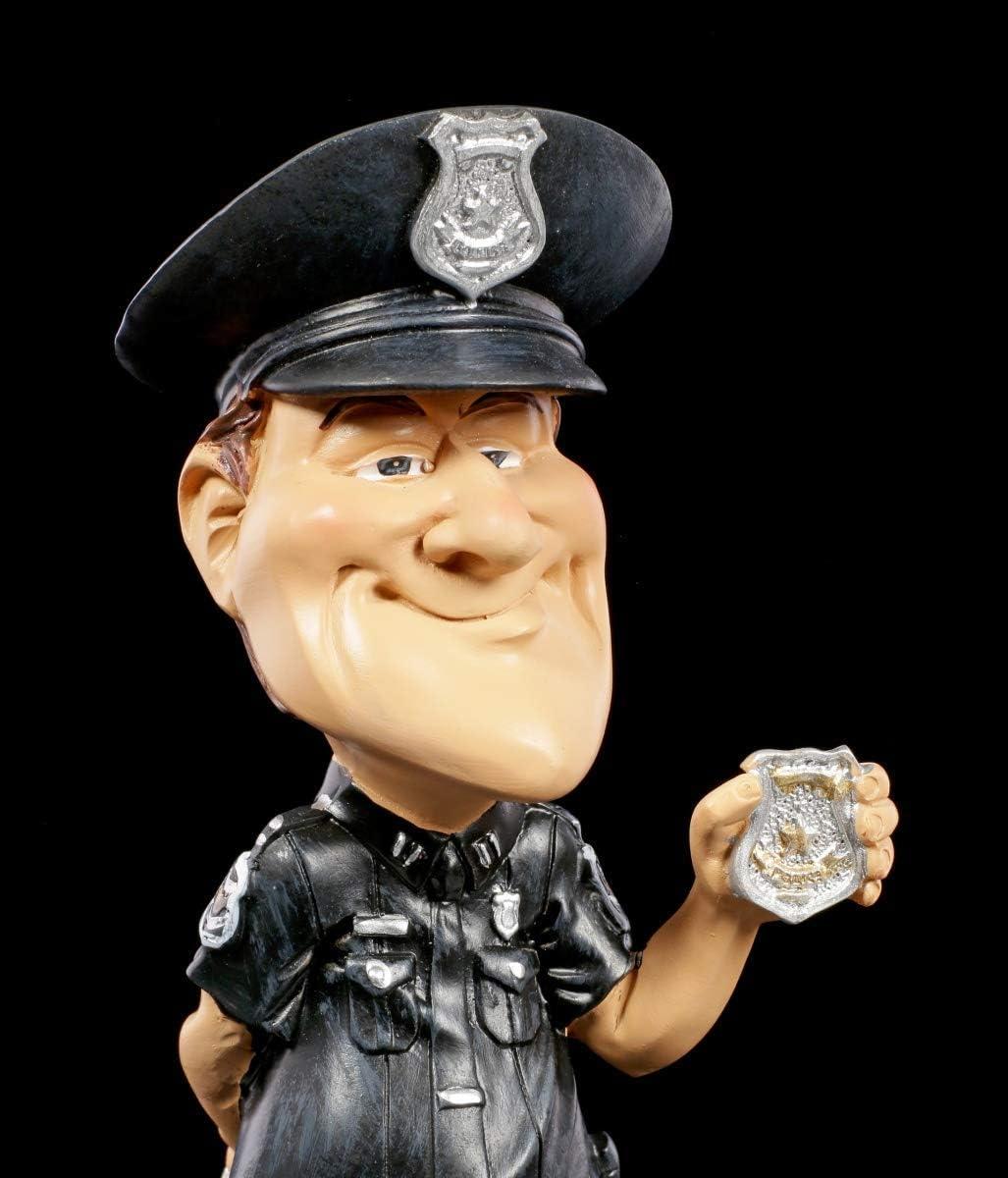 Dr/ôle Figurine D/écorative Karrikatur Emploi Dr/ôle Figurine Peint /à la Main Policier avec Marque