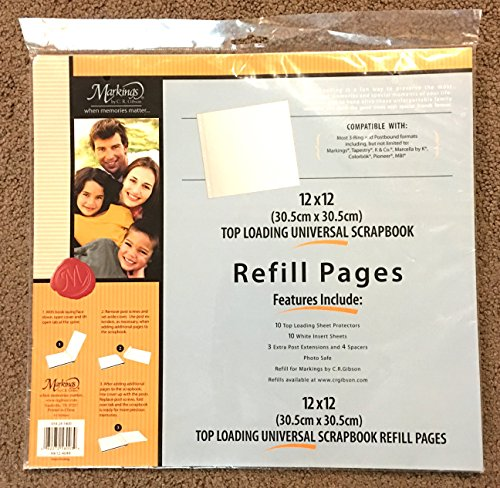 12 x 12 Top Loading Universal Scrapbook Refill Pages by C.R. Gibson