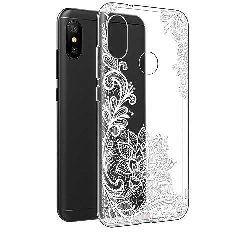 codice promozionale 0938d 70260 Eouine Cover Xiaomi Mi A2 Lite, Custodia Cover Silicone Trasparente con  Disegni Ultra Slim TPU Silicone Morbido Antiurto 3D Cartoon Bumper Case per  ...