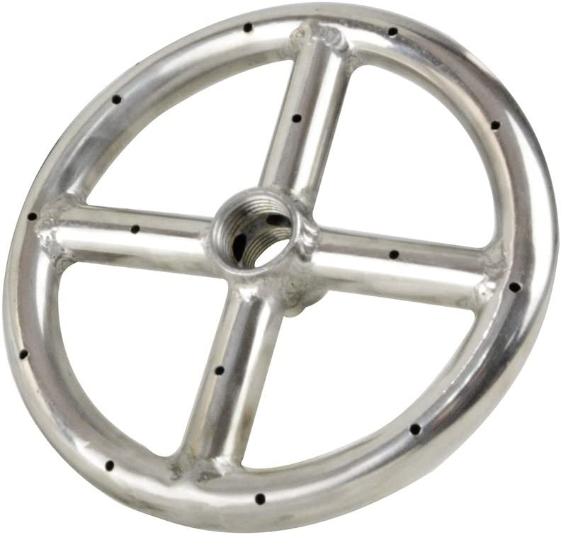 """Stanbroil 6"""" Round Fire Pit Burner Ring, 304 Series Stainless Steel, BTU 88,000 Max"""