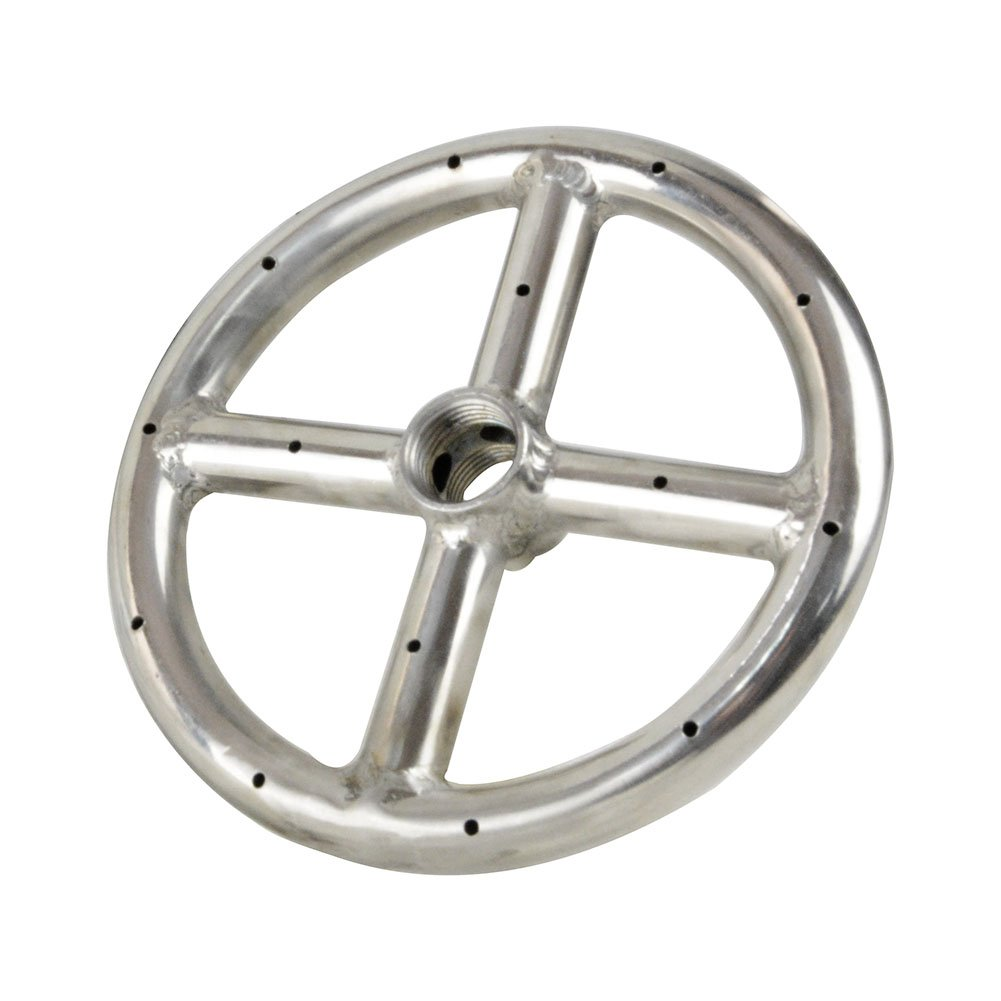 Stanbroil 6 Round Fire Pit Burner Ring, 304 Series Stainless Steel, BTU 88,000 Max E001-6-SS