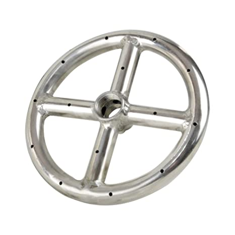 """Stanbroil 6"""" Round Fire Pit Burner Ring, 304 Series Stainless Steel,  BTU 88,000 - Amazon.com: Stanbroil 6"""
