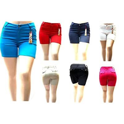 1826 Jeans Women's Premium Plus Size Twill Short Solid Colors Stretch PS-792