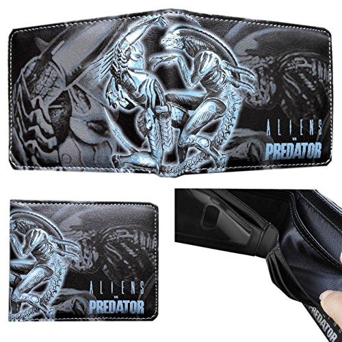 Alien Vs Predator Costume For Kids (Sci- Fi Alien VS. Predator Bi-Fold Men's/Boys Wallet with Gift Box)