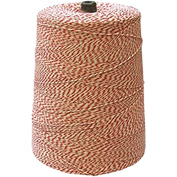 BAKERY TWINE, RED & WHITE, 2-LB. CONE