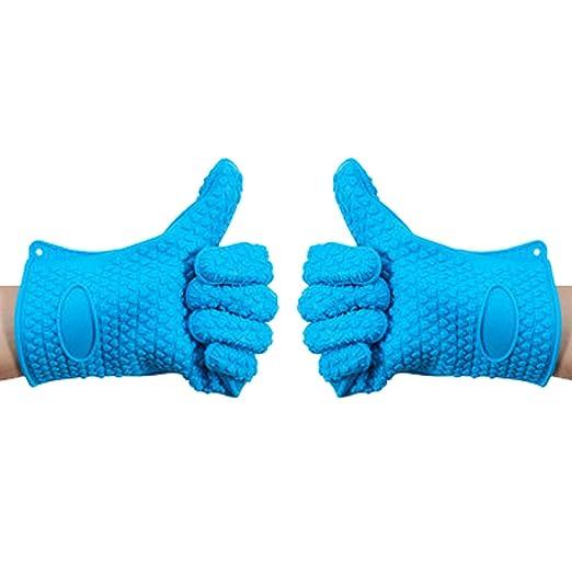 lemarle profesional guantes de horno de silicona con resistente al ...