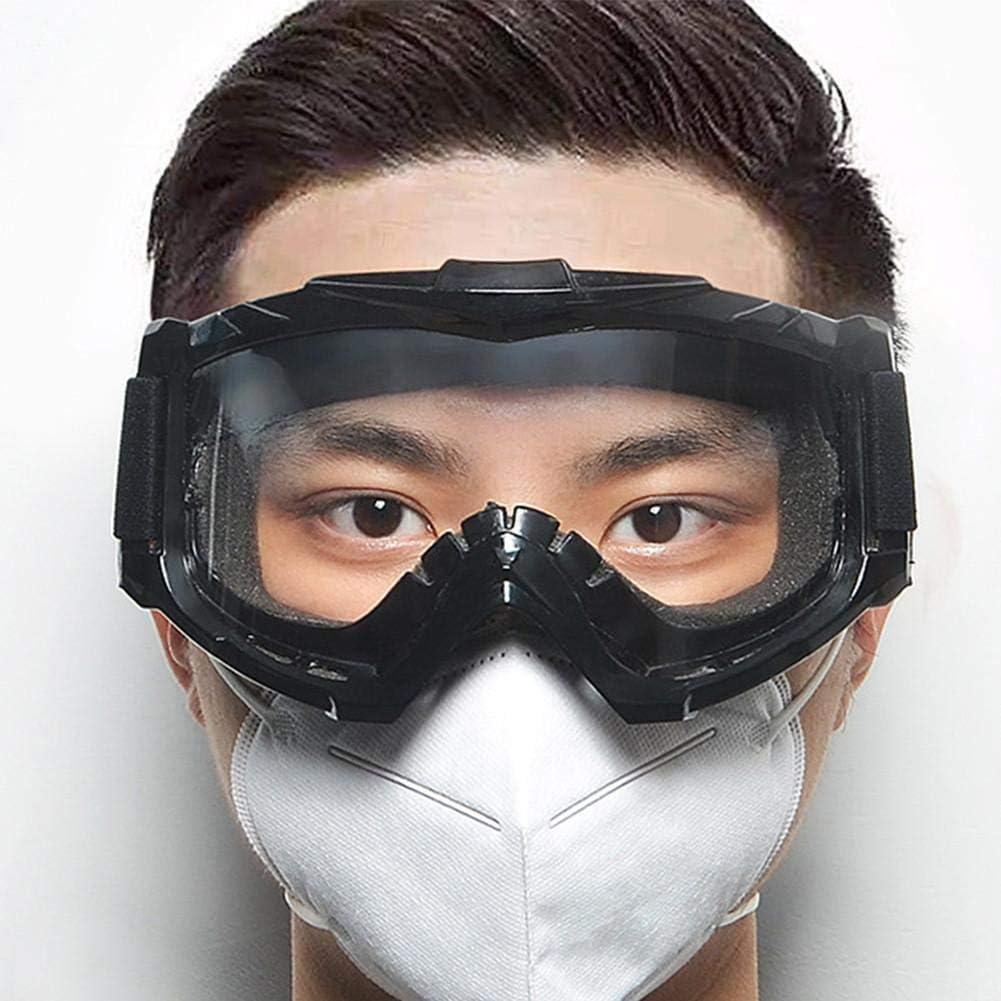 Cómodo, Gafas De Seguridad, Gafas De Protección Contra Incendios Forestales, Resistente A Los Arañazos, Lente De PC + Marco De TPU Marco Negro, Lentes Recubiertas Con Protección De PVC, Gafas