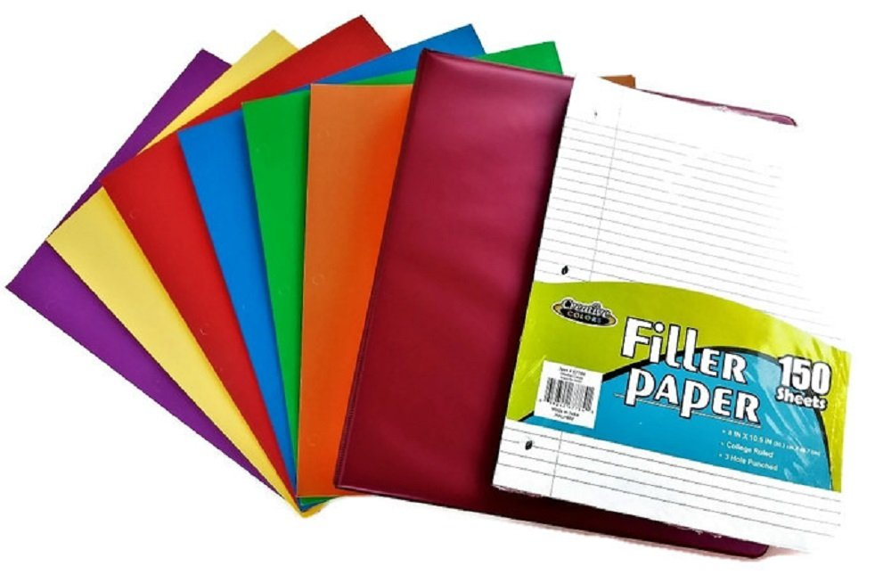 Over 55 Count School Supply Bundle by All Day Gifts, for Middle, High School and College - Binder, Mechanical Pencils, Sharpie, Pens, Hi-liters, Folders, Note Books Plus More (College Ruled) by All Day Gifts (Image #4)