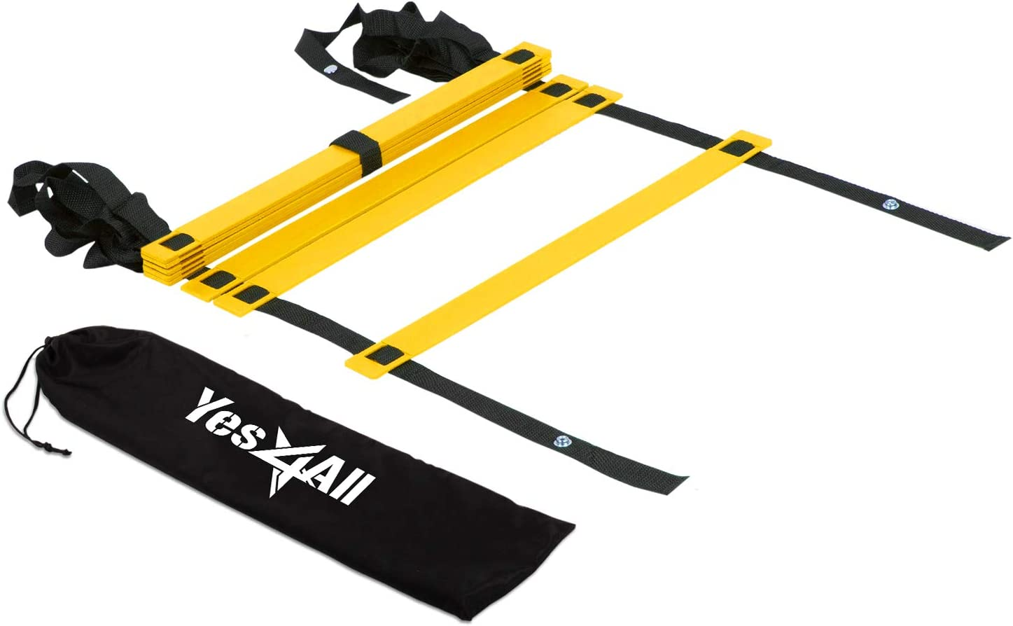 Yes4All Agility Ladder – Speed Agility Training Ladder with Carry Bag - 8 Rung (Yellow) - SGQV : Speed And Agility Training Ladders : Sports & Outdoors