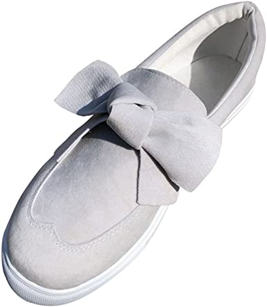 Womens Bowknot Sneakers Pumps Slip On Loafers Trainers Flat Casual Shoes Summer