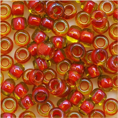 Toho Beads Treasure (Toho Round Seed Beads 6/0#303 'Jonquil/Hyacinth Lined' 8 Gram Tube)