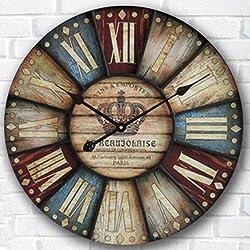 Creative clock waterproof/MDF wall clock/digital creative/diameter of the circular wall charts 30/34/40/50/60cm,C,24 inch