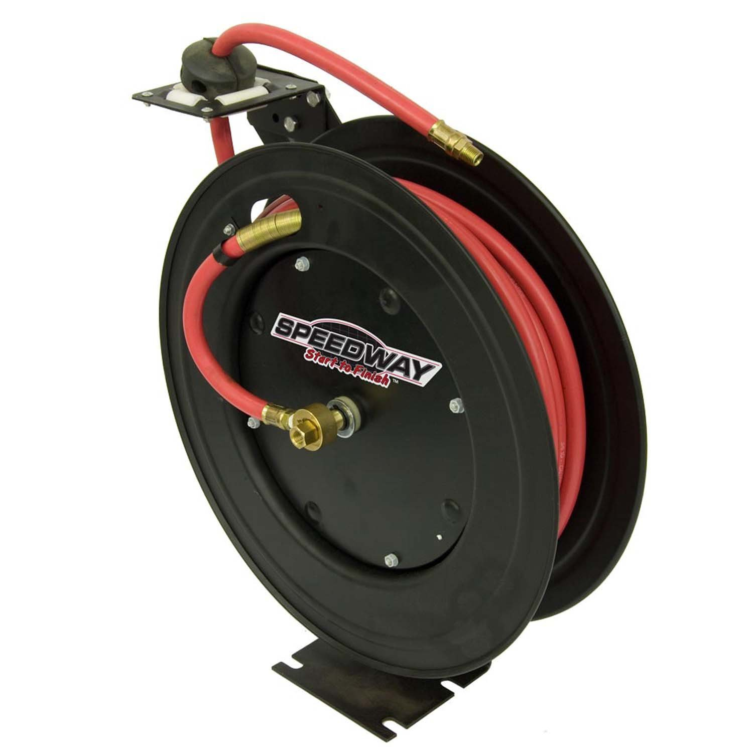 Speedway 7640 Retractable Air Hose Reel with 3/8-Inch by 50-Foot Hose