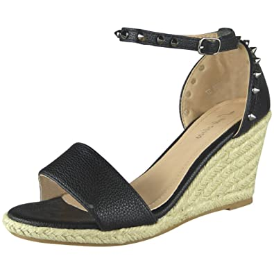 b16a58603eae Loud Look Womens Ladies Ankle Strap Espadrilles Platform Shoes Mid Heel  Wedge Sandals Size 3