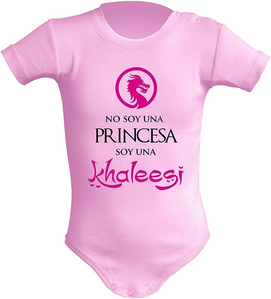Body bebé unisex No soy una princesa, soy una Khaleesi (Juego de tronos - parodia). Regalo original. Body bebé divertido. Manga corta.