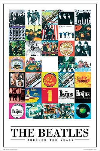 Album Cover Rock - Buyartforless The Beatles Through The Years -35 Album Covers 36x24 Music Art Print Poster
