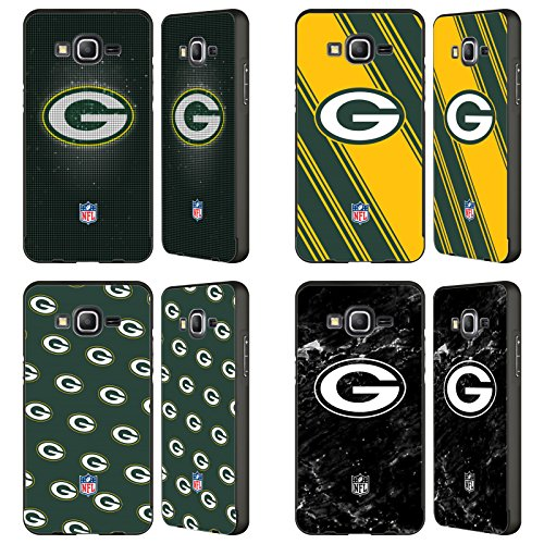 Official NFL 2017/18 Green Bay Packers Black Aluminum Bumper Slider Case for Samsung Galaxy Grand Prime from Head Case Designs