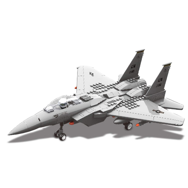 Sams Bestoyz Air-Force Military Army Airplane Building Bricks Set, Educational Learning Build Blocks Toys for Age 6,7,8+ (285PCS)