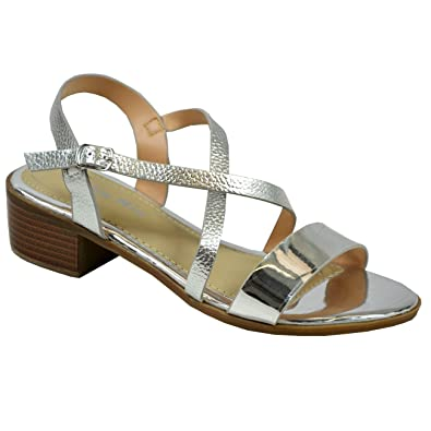 f53305b4ae4 CucuFashion New Womens Ladies Ankle Strap Snake Skin Patent Peep Toe Block Heel  Sandals  Amazon.co.uk  Shoes   Bags