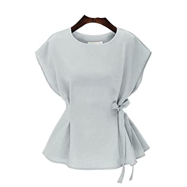 5c5805df9e Amazon.com: Blouse Women Shirt Short Sleeve Plus Size Women Clothing ...