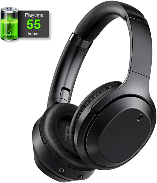 Gorsun Active Noise Cancelling Headphones with 55 Hours Playtime