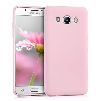 kwmobile Funda para Samsung Galaxy J5 (2016) DUOS - Carcasa para móvil en TPU Silicona - Protector Trasero en Rosa Palo Mate