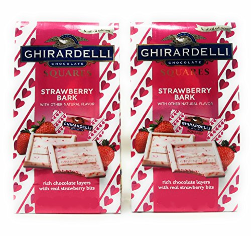 - Ghirardelli Chocolate Limited Edition Strawberry Squares, 5.4 Oz. (Pack of 2)