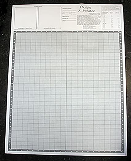 Amazon Design A Sweater Knitters Grid Knitting Graph Paper