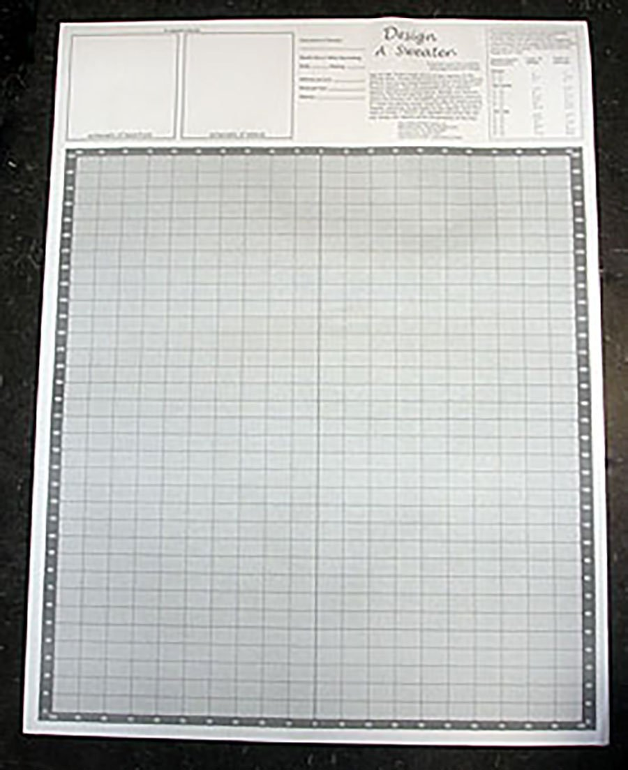 Design A Sweater Knitters' Grid - Knitting Graph Paper