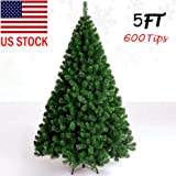 d2b226f03ca 5 Feet 1.5m Tall Xmas Christmas Tree W Stand Holiday Season Indoor Outdoor  Green