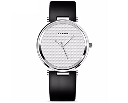 Amazon.com: Relojes de Hombre Super Slim Luxury Casual Watches Mens Quartz Analog Leather Fashion Wristwatch RE0053 (White/Silver): Everything Else