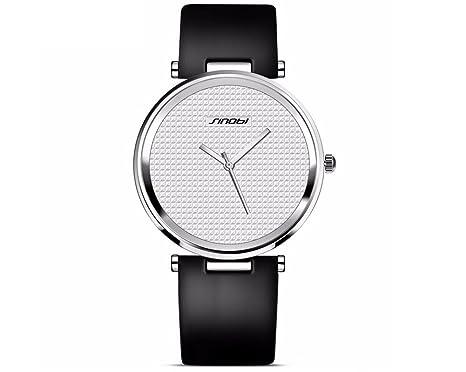 Relojes de Hombre Super Slim Luxury Casual Watches Mens Quartz Analog Leather Fashion Wristwatch RE0053 (