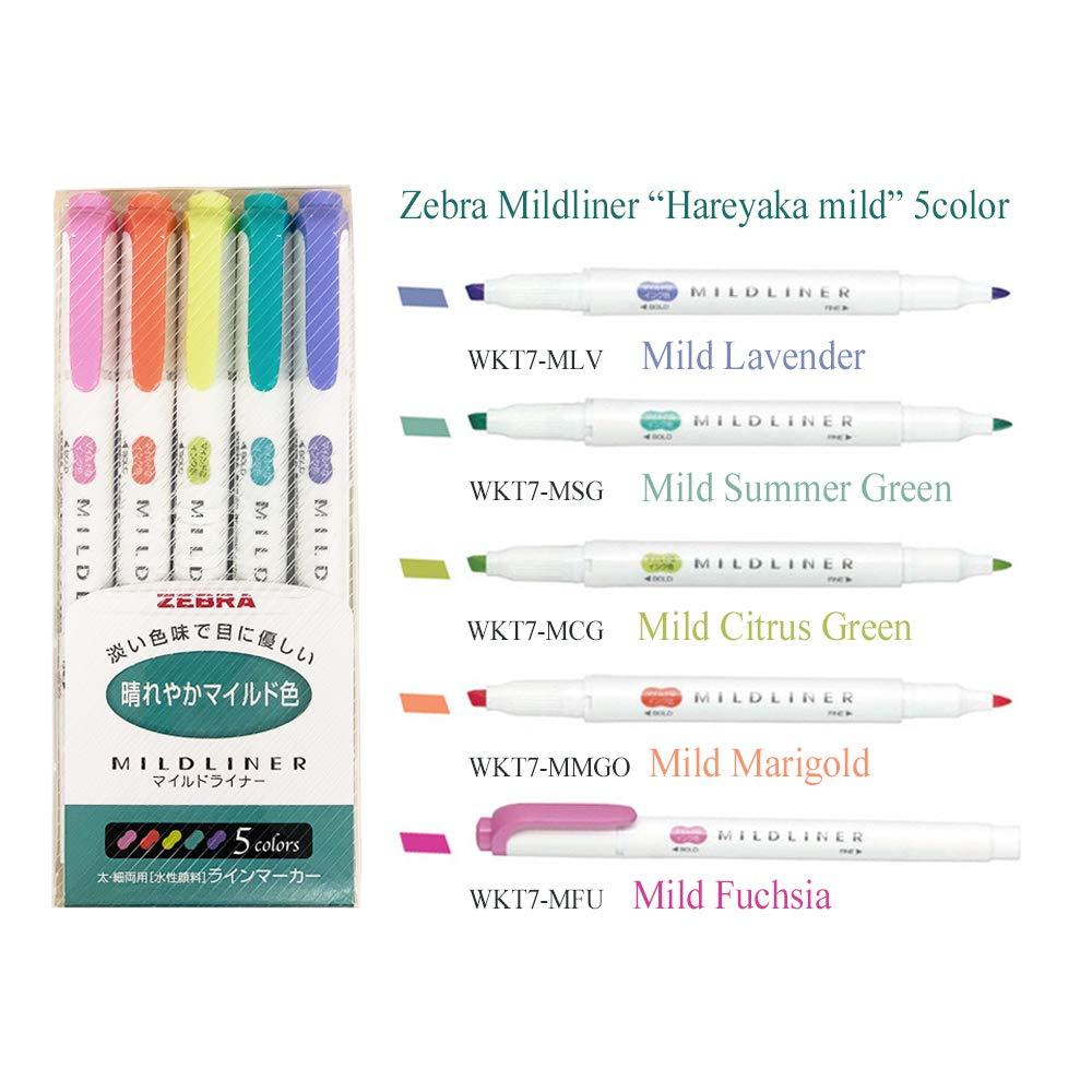 Zebra Mildliner highlighter pen set, 25 Pastel Color set by zebra midliner (Image #5)