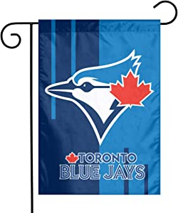 Xihe Fashion Baseball Team Double Sided Banner Linen Material House Yard Decoration Flags Home Garden Flags 12 x 18 Inch (Toronto Blue Jay )