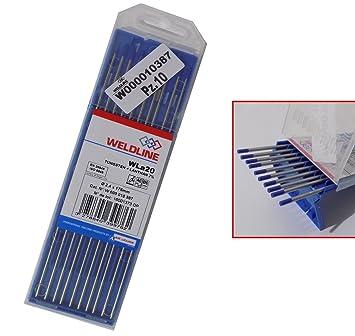 Soldadura TIG Electrodos Tungsteno 10 piezas: Amazon.es: Bricolaje y herramientas