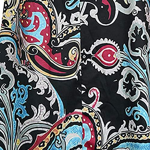 Tshirt Print Pockets Dresses for Women Summer Loose Beach Boho Sleeveless Floral Sundress Swing Casual Loose Cover Up (XL, Black) by Moxiu (Image #1)