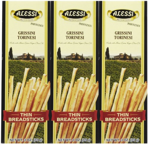 Alessi Thin Breadsticks, 3 oz, 3 pk (Thin Sticks)
