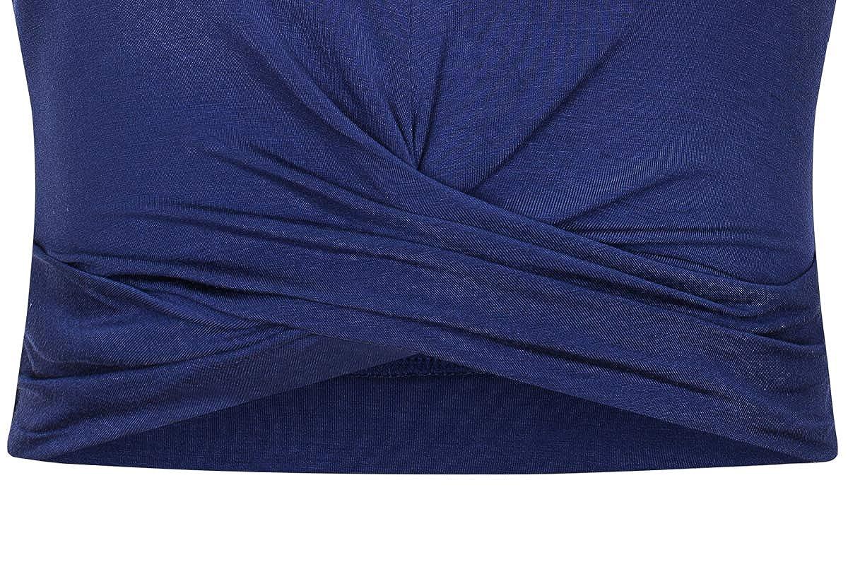 Need DODO Womens Sleeveless Crop Tops Slim Fit Summer Midriff Baring Vest Tops